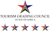 Five Star grading by the Tourism Grading Coucil of South Africa